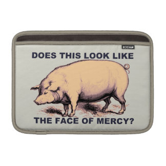 Does This Look Like The Face of Mercy?  Grumpy Pig Sleeve For MacBook Air