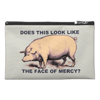 Does This Look Like The Face of Mercy?  Grumpy Pig Travel Accessory Bag