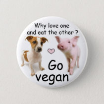 Does Why coil one and eat the other? Pinback Button