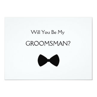 Does Will you see my groomsman? 5x7 Paper Invitation Card