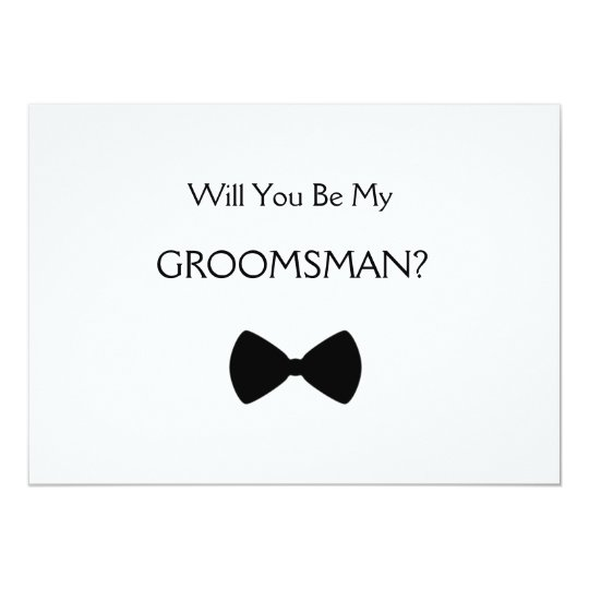 does will you see my groomsman card. Black Bedroom Furniture Sets. Home Design Ideas