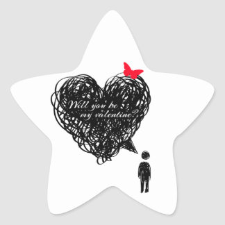 Does Will you see my valentine? Star Sticker