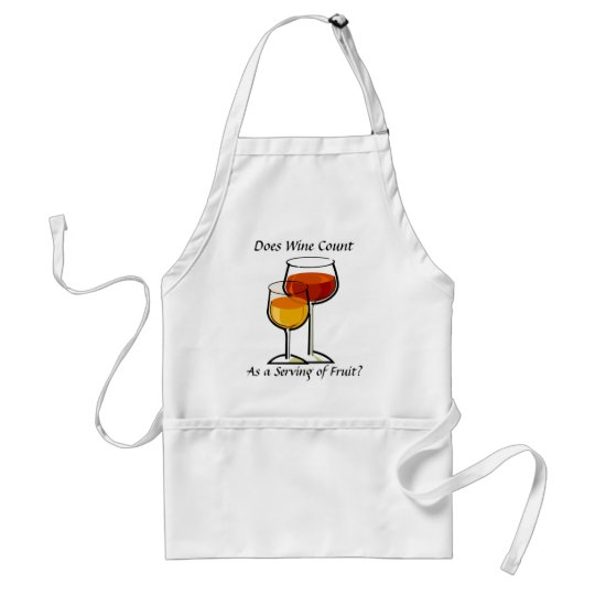 Does wine count as a serving of fruit? adult apron