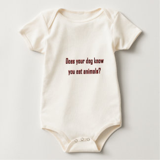 Does your dog know? baby bodysuit