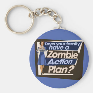 Does your family have a Zombie Action Plan Basic Round Button Keychain