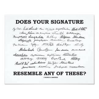 Does Your Signature Resemble Any Of These? Card