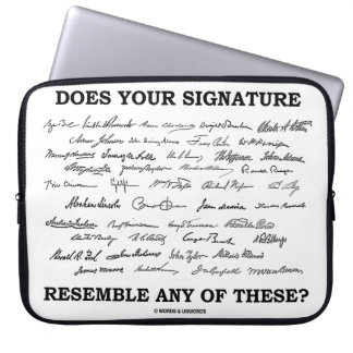 Does Your Signature Resemble Any Of These? Laptop Sleeve