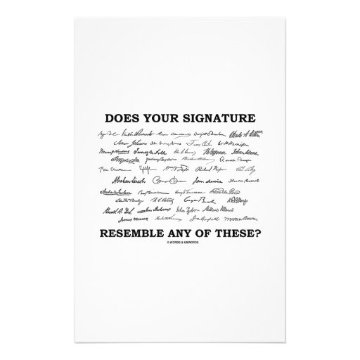 Does Your Signature Resemble Any Of These? Custom Stationery