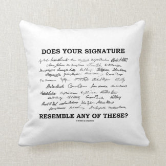 Does Your Signature Resemble Any Of These? Throw Pillow
