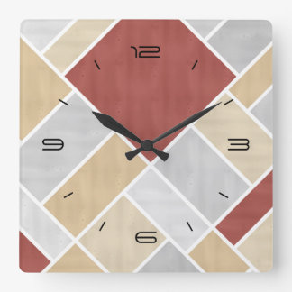 Doesburg ColorPop Composition Square Wall Clock