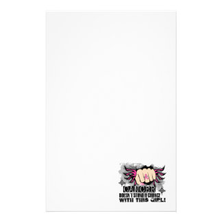 Doesn t Stand A Chance Breast Cancer Stationery