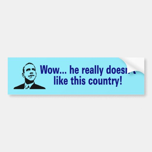 doesnt like this country car bumper sticker