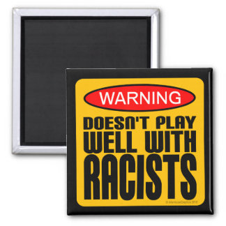 Doesn't Play Well With Racists Magnet