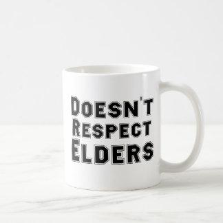 Doesn't Respect Elders Classic White Coffee Mug