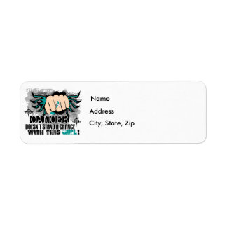 Doesn't Stand A Chance Cervical Cancer Return Address Label