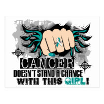 Doesn't Stand A Chance Cervical Cancer Postcard