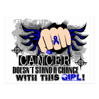 Doesn't Stand A Chance Colon Cancer Postcard
