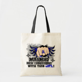 Doesn't Stand A Chance Colon Cancer Tote Bag