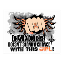Doesn't Stand A Chance Endometrial Cancer Postcard