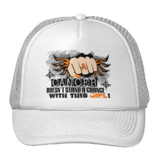 Doesn't Stand A Chance Kidney Cancer Trucker Hat