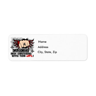 Doesn't Stand A Chance Melanoma Return Address Label