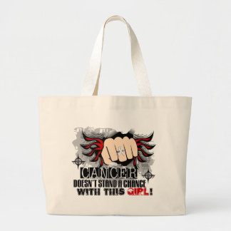 Doesn't Stand A Chance Mesothelioma Large Tote Bag
