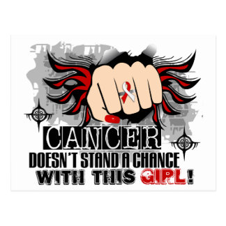 Doesn't Stand A Chance Oral Cancer Postcard