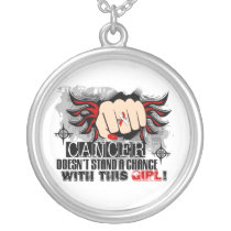 Doesn't Stand A Chance Oral Cancer Silver Plated Necklace