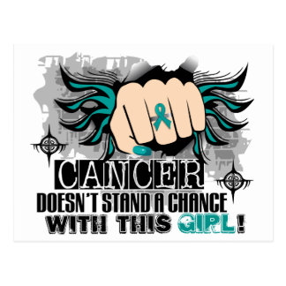 Doesn't Stand A Chance Ovarian Cancer Postcard