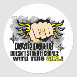 Doesn't Stand A Chance Sarcoma Classic Round Sticker