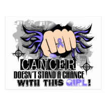 Doesn't Stand A Chance Stomach Cancer Postcard