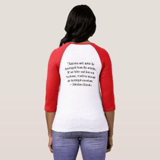 DOF Ladies baseball T - Abe Lincoln Quote T-shirt