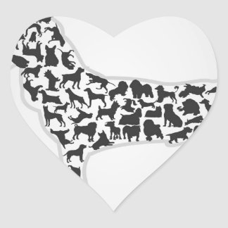 Dog2 Heart Sticker