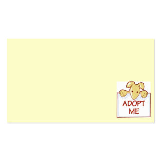 dog511 ADOPT ME RESCUE DOGS ANIMALS CAUSES CARTOON Double-Sided Standard Business Cards (Pack Of 100)