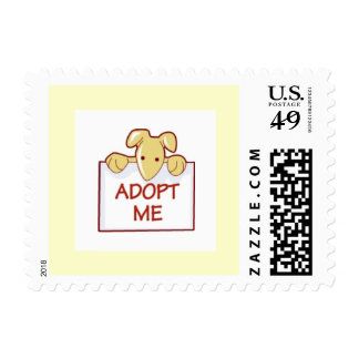 dog511 ADOPT ME RESCUE DOGS ANIMALS CAUSES CARTOON Postage