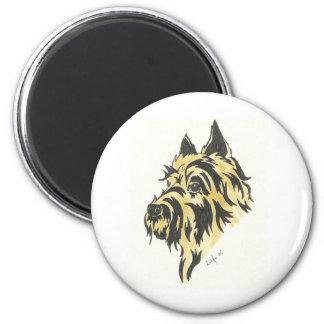 dog 001 2 inch round magnet
