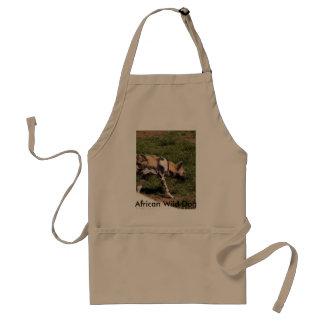 Dog-011 salvaje africano, perro salvaje africano delantales