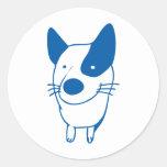 dog 01 round sticker