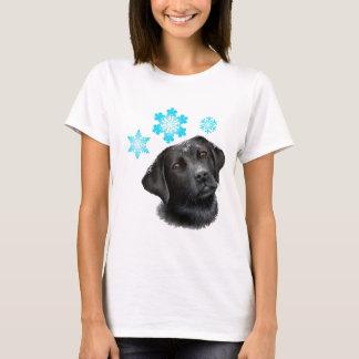 dog 100 black Labrador white Background T-Shirt