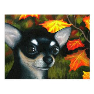 Dog 101 black Chihuahua Postcard