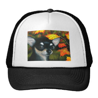Dog 101 black Chihuahua Trucker Hat