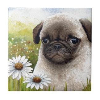 Dog 114 Puppy Pug Ceramic Tiles