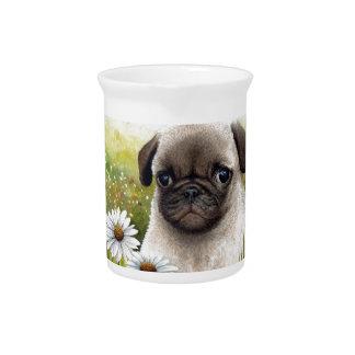 Dog 114 Puppy Pug Drink Pitcher