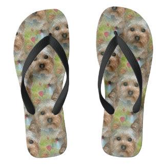 Dog 117 Yorkie Flip Flops