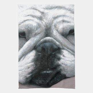 Dog 118 English Bulldog Kitchen Towel