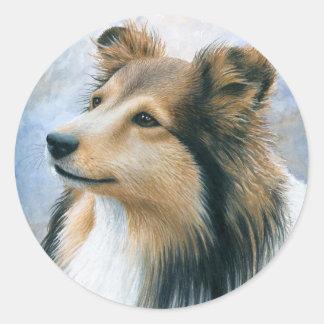 Dog 122 Sheltie Collie Stickers