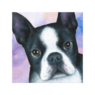 Dog 128 Boston Terrier Canvas Print