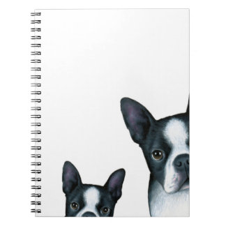 dog 128 Boston Terrier Spiral Notebook