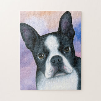 dog 128 color Boston Terrier Jigsaw Puzzle