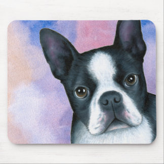 dog 128 color Boston Terrier Mouse Pad